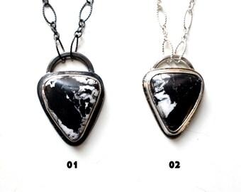Natural White Buffalo Turquoise Sterling Silver Necklace | Nevada Mine | Women's Modern Minimalist | Gugma Jewelry Wom