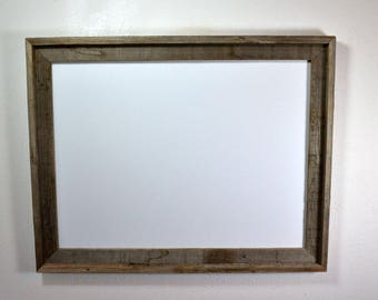 18x24 rustic wood frame with mat for 11x1712x18 or 13x19 make a statement with this big old frame