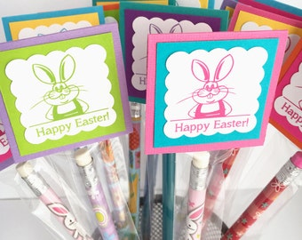 Easter Pencil, Personalized Easter Pencil Favors, School Easter Treats, Classroom Party Favors, Happy Easter Pencils, Easter Party Favors