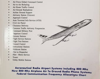 Aeronautical Frequency Directory HF-VHF-UHF-800 Mhz , Radio Airport Systems, Air Carrier Company Designator, Aeronautical Radio 1992