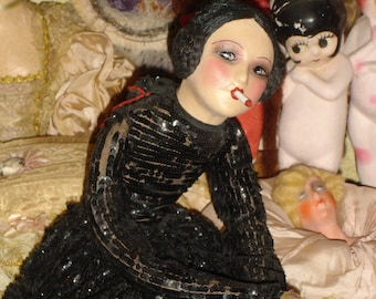 Beautiful Cubeb Smoking Boudoir Doll