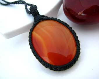 Carnelian jewelry / Carnelian Necklace / Carnelian pendant / Wrapped necklace / Gifts for her / Chakra Jewelry / Gift guide / gift for yogi