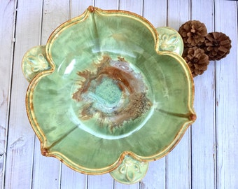 Large Serving Bowl or Fruit Bowl Ceramic Handmade Pottery