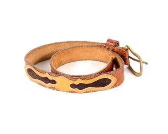 Vintage 70s Frye Belt - Vintage Frye Belt - 70s Frye - 70s Leather Belt - Western Belt - Leather Western Belt - Brown Leather Belt - Boho S