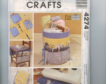 Craft Sewing Pattern McCalls 4274 Fat Quarter Sewing Accessories Craft Pattern