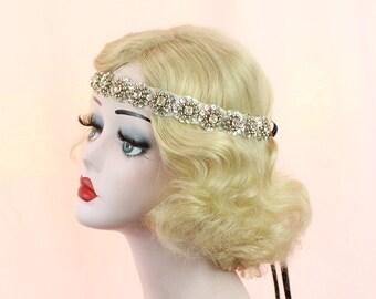 Silver Headband, Bridal Hair Accessory, Rhinestone Crystal Headpiece, Prom Hair Accessory, Flower Girl, Bridesmaids Accessories