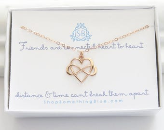 Best Friend Gift • Infinity Heart Necklace • Heart & Infinity Symbol • Friendship Necklace • Best Friend Birthday • Gift For Friend