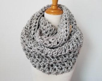 Chunky Knit Scarf | Crochet Scarf | Infinity Scarf | Chunky Snood| Mens Scarf | Knit Scarf | Knit Shrug | Vest Knit Wrap