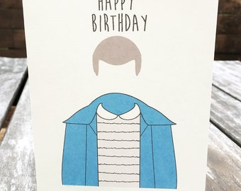 Stranger Things Birthday card -Stranger Things - Eleven Bday card - funny - hilarious funny Stranger Things card