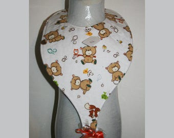 "Baby Bibs, Pacifier Bibs, Bibs with Pacifier, Bibs, Pacifier, "" Bears"""