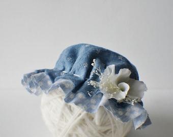 Milk Maid Bonnet, Flower Bonnet,  Floral Bonnet, Garden Bonnet, Baby hat, Baby Photo Prop, Newborn Photo Prop, Baby Girl Hat, Baby Hat