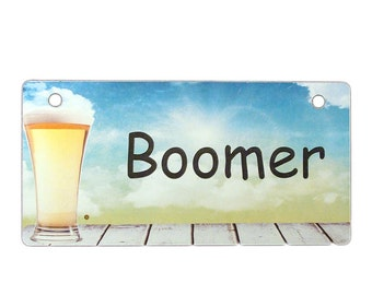 Beer on the Dock Crate Tag Personalized with Your Dog's Name - Free Shipping