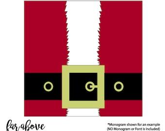 Santa's Belt Buckle - SVG, DXF, png, jpg digital cut file for Silhouette or Cricut