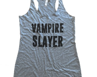 Vampire Slayer Tank Top - Buffy Sleeveless Shirt - (Ladies Sizes S, M, L,)