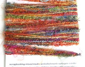 Art Yarn Bundle Yarn Sampler 10 Hand Dyed Yarns 2 yards each 20 Yards Total for DIY Crafts - Red Rainbow Mix