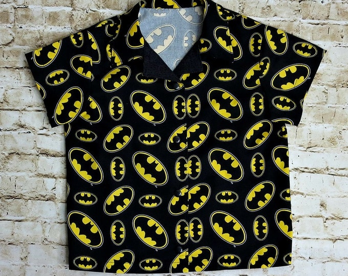 Batman Shirt - Super Hero Party - Big Brother - Little Brother - Gift for Boy - Batman Birthday - Super Hero Shirt - sizes 3T to 10