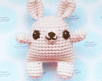 Twinkle Eyes Pastel Pink Bunny - handmade crochet cute cotton stuffed amigurumi rabbit plush toy animal easter baby newborn shower gift