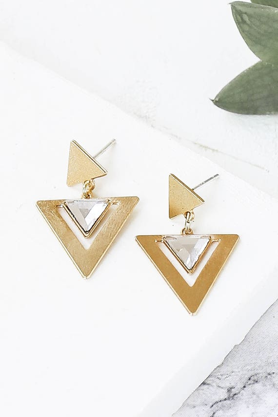 idol earrings post earrings triangle earrings dangle. Black Bedroom Furniture Sets. Home Design Ideas