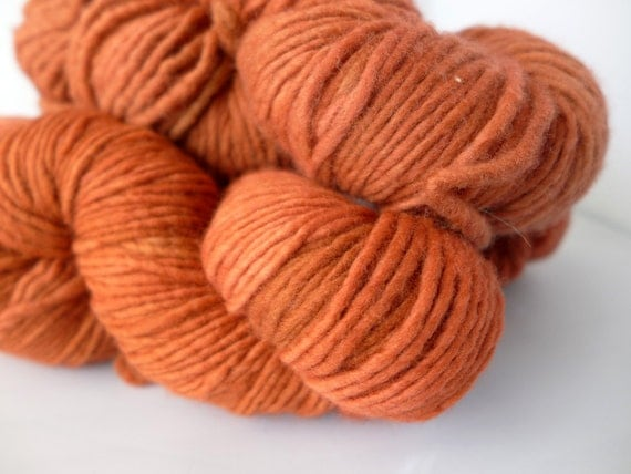 Malabrigo Yarn Merino Worsted - Red Lava, 79 - Orange Red Worsted Aran Kettled Dyed Merino Yarn