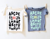 Hi from the Alphabet kids shirt Fun shirt for boys or girls Great gift or back to school shirt more colors available