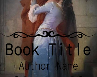 Premade Kindle book cover art design medieval historical romance kissing embrace love