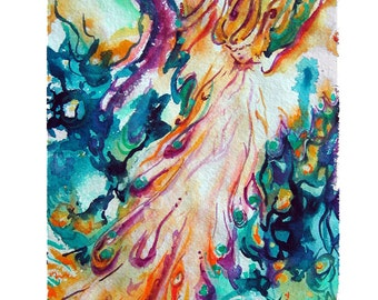 Angel of Manifestation - fine art, limited edition (giclee) print of my original painting