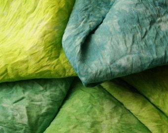 "Silk Fabric Bundle, Hand Embroidery Silk, Hand Embroidery Fabric, 14"" by 18"" Appalachian Trail"