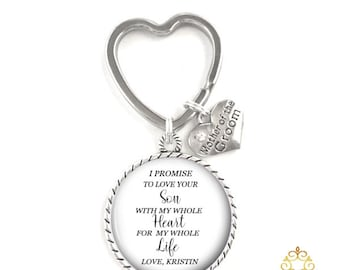 Mother of the Groom Gift Key Chain, Rehearsal Gift, Mother Key Chain Style 725
