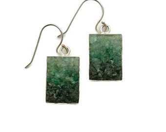 Emerald Mosaic Earrings
