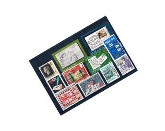Postal Mail Theme Postage Stamp Selection on Stock Card