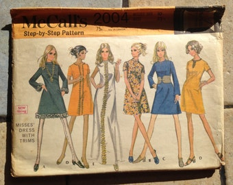 McCall's 2004 Size 10 Misses' Dress Pattern