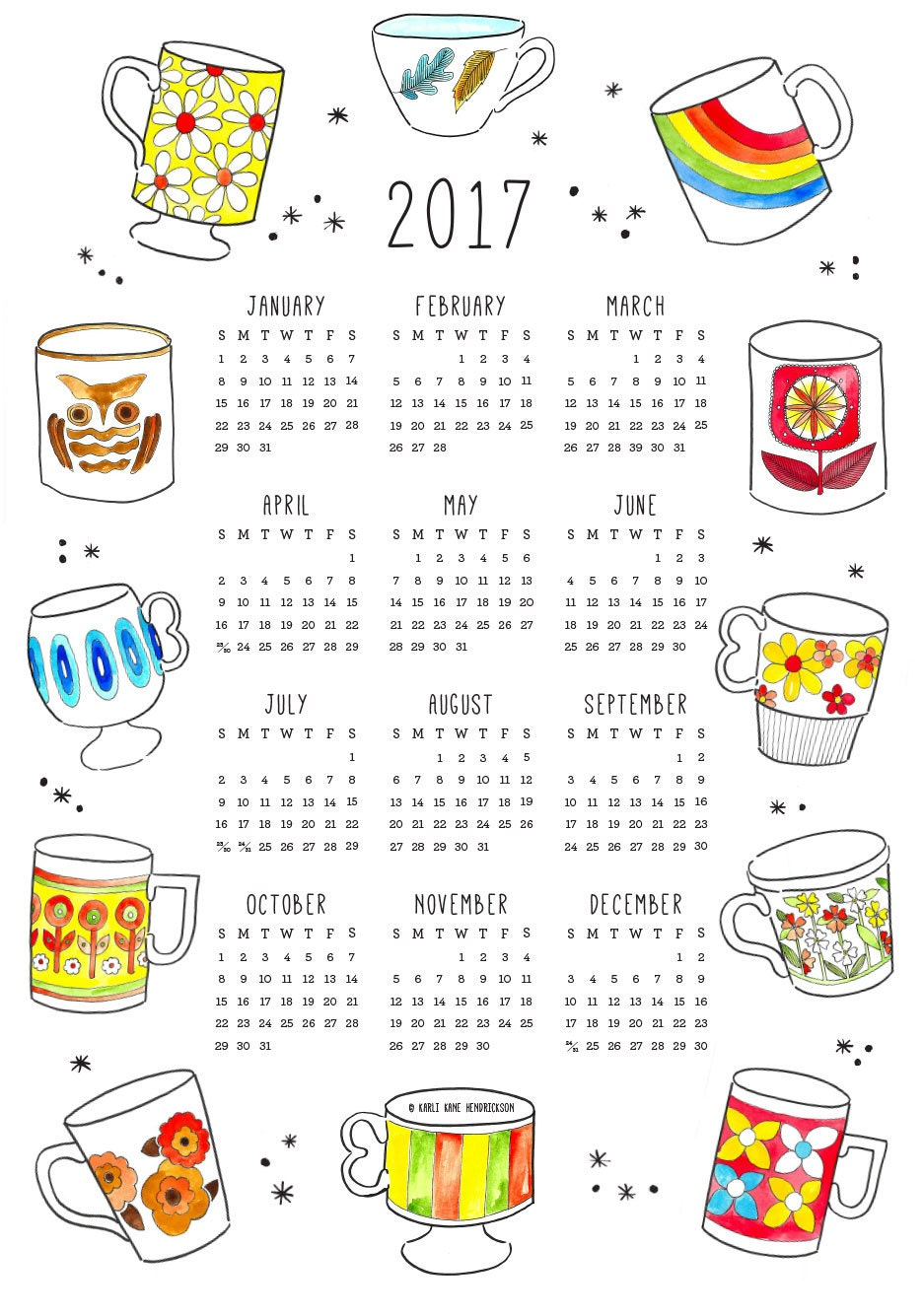 2017 Tea Time Calendar