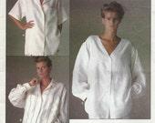 Misses Loose Fitting Boyfriend Shirt Sewing Pattern, Uncut Vogue 1509, Vogue American Designer, Calvin Klein, Bust 38 Inches, Misses Size 16