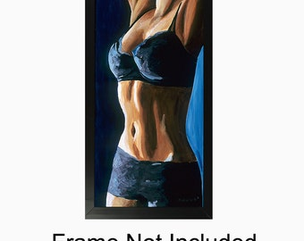 Female Figurative Sensual Bedroom Wall Art Limited Edition Giclee - Artwork Titled Taut