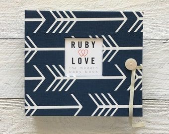 Navy Arrows Silhouette | BABY BOOK