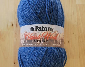 Patons Classic Wool Merino Yarn - New Denim