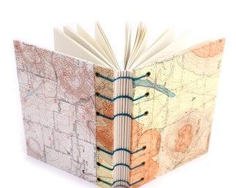 Oregon Map Unlined Journal - handmade by Ruth Bleakley
