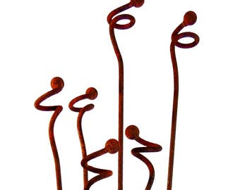 Curly Weeds-Garden Stakes-Sold Individually Home Decor Garden Sculpture