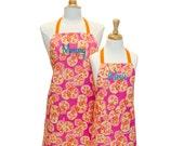 Chef Apron Mother Daughter Apron Set Personalized Apron Childrens Apron Baking Apron Child Apron Children's Apron Cooking