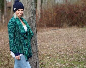 blue winter hat-small-winter hat-merino wool