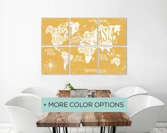 Worldmap - Wood Map Wall Art - Wooden World Map - Large World Map Art - Canvas World Map - World Travel Map - Large World Map - Map Art