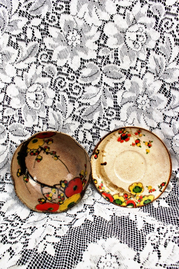 Rare Ogata Kenzan pottery/ Japanese KENZAN KYOTO Ware Pottery/Made in Japan G.O Kyoto Bowl/G.O. Pottery Kyoto Japan/
