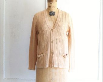 70s vintage CELINE cardigan sweater in blush