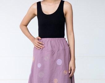 SN002--Cute cotton skirt with cute circles