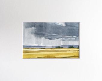 Downpour • original watercolor painting