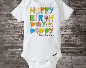 Happy Birthday Daddy Onesie - Happy Birthday Daddy Shirt - Happy Birthday Outfit - Happy Birthday Dad - Dad Birthday Gift - 08202014a
