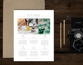 Wedding Photographer Timeline Template - New Client Studio Welcome Packet - Digital Photographer Magazine Templates - m0204