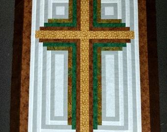 Christian Cross Quilt TOP