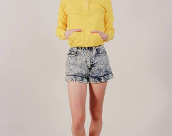 Vintage Yellow Collared Sweater Shirt