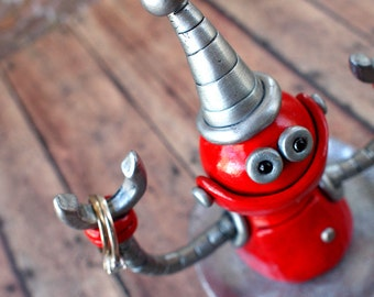 Robot Ring Holder - Jewelry Dish - Ring Dish - Robot Sculpture - Unisex Jewelry Dish